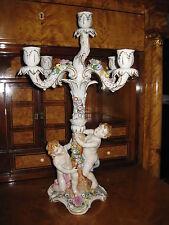 PMP Plaue Schierholz Leuchter Engel Porzellan Figur Putto  Kerzenleuchter 57 cm