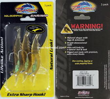 "Tsunami Saltwater Fishing Lure 3"" Holographic Shrimp Clear/Ghost"