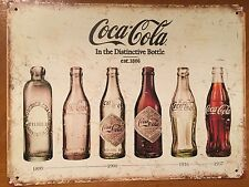 Tin Sign Vintage Coca-Cola In The Distinctive Bottle 1899-1957