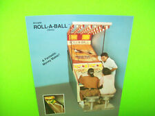 Bobs Space Racers ROLL A BALL Original 1989 Redemption Arcade Game Sales Flyer