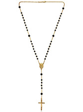 Dolce & Gabbana Black & Gold Rosary Necklace ** Harrods** BNWT