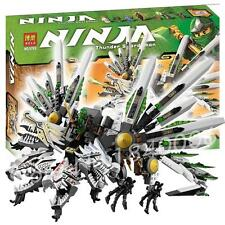Ninja 4 heads dragon snake & 6 figures super samurai heroes action fighter #9789