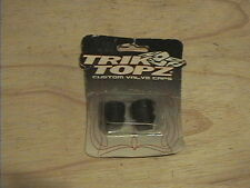 TRIK TOPZ MTB BMX MX SCOOTER MOPED MOTORCYCLE VALVE DUST CAPS LARGE PISTON BLACK