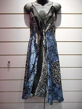 Scarf Dress Fits S M L XL Sexy Backless Empire Black Blue Paisley Empire BV98