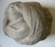 100g Bluefaced Leicester Top / Rovings - Oatmeal - Felt Making and Spinning