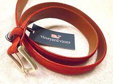 vineyard vines Dark Red Italian Suede Belt NWT 40 waist $128 Made in USA