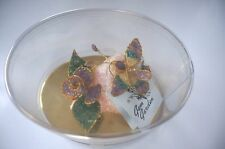 "NEW IN BOX: ""GEM GARDEN""  BUTTERFLY AND ROSE GEMSTONE DISPLAY"