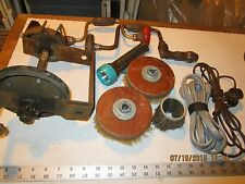 lot of old barn tool arbor with brake part hand drills flashlight brushes cords