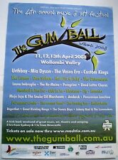 THE GUM BALL - WOLLOMBI 2008 4TH ANNUAL MUSIC & ART FEST. ORIGINAL PROMO POSTER