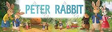 Personalized Peter Rabbit Name Poster Glossy Home Decor Banner - Customized Gift