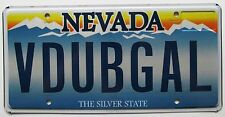 Nevada 2012 VANITY License Plate V DUB GAL