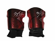 WWE NXT FINN BALOR RING WORN HAND SIGNED RED KNEEPADS WITH PIC PROOF AND COA