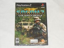 NEW Socom 3 U.S. Navy Seals Playstation 2 Game SEALED - Black Label PS2 US NTSC