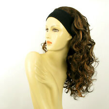 headband wig long curly wick chocolate light copper BUTTERFLY 627C