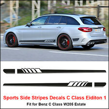 Edition 1 Style Side Stripes Sticker for Mercedes Benz S205 C Class AMG Black