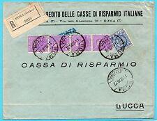 1928 REGNO 50 CENTESIMI STRISCIA 4 VALORI+1,25 LIRE SU RACC ROMA 11/10 C/9737