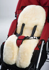 Sheepskin and Pram / Car Seat Liner Combo in IVORY