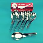 6 X Thai High Quality Stainless Steel Chinese, Soup, Dessert Spoons by Zebra