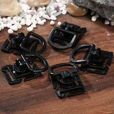 5pcs Black Molle Sternum Strap System D Ring Swivel Buckle 18MM 25MM Webbing