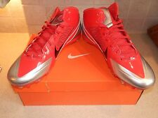 OHIO STATE FOOTBALL NIKE ALPHA PRO TEAM ISSUE NEW OLD STOCK CLEATS 14 MAN CAVE