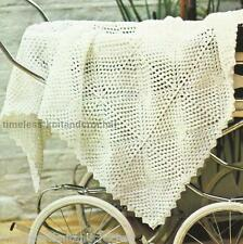 VINTAGE CROCHET PATTERN FOR PRETTY BABY SHAWL / BLANKET MADE FROM CROCHET MOTIFS