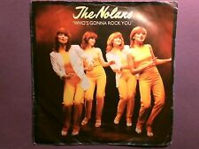 "The Nolans - Who's Gonna Rock You (7"" single) picture sleeve EPC 9325"