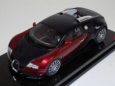 1/18 MR Collection Bugatti Veyron Vitesse Matte Metallic Red Carbon Fiber Base