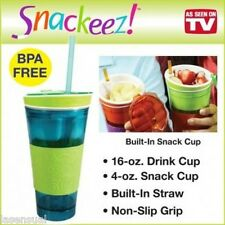 Snack Easy and Mess-Free With Snackeez! 2 in 1 Snack & Drink Cup