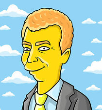 Cartoon Simpsonized Portrait Yellow Character Custom Made From Your Photo