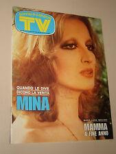 TV SORRISI CANZONI=1975/32=MINA=MARCELLA BELLA=PINO MEYNET=MIKIS THEODORAKIS=