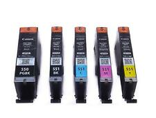 PGI-550 CLI-551 Genuine Original Canon Ink Cartridges Black Cyan Magenta Yellow