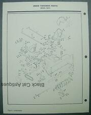 Vintage 1974 MTD Snow Thrower Attachment Illustrated Parts List Model 62513