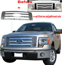 Viogi 1pc Design Polish Upper Billet Grille Insert Fit 09-12 F150 FX4/STX/XL/XLT