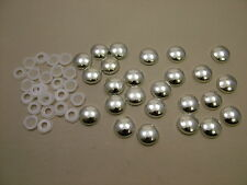 Screw covers screw caps two-part chrome, pack of 25, to fit no.6 & no.8 screws