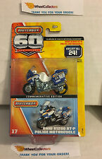 BMW R1200 RT-P Police Motorcycle #17 * Matchbox 60th Anniversary * H30