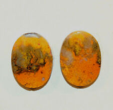BumbleBee Jasper pair of Cabochons 20x15mm with 4.5mm dome from Indonesia(8928)