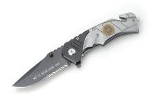 "Snake Eye Tactical "" Sheriff "" Rescue Style Action Assist Folding Knife 4.5"""