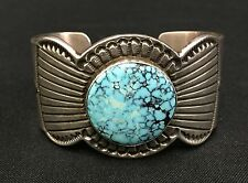 Cuff Bracelet *Native American Indian *Pawn* Sterling & Turquoise * Navajo
