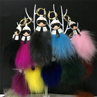 Real Raccoon Fur Monster bag bugs Keychain Car Key ring Pendant bag charm Karl