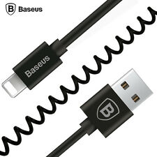 BASEUS 1.6M Spring Lightning Charging USB Cable for iPhone 5 5S 6 6S 7 Plus iPad