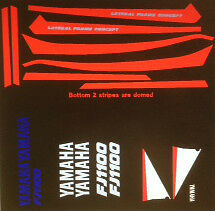 YAMAHA FJ1100 RESTORATION DECAL SET