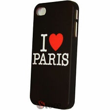Cover Custodia Rigida Per iPhone 4/4S I Love Paris Pariggi + Pellicola Display