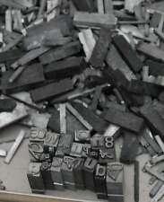 2,6 kg caractères en plomb lettres typographie imprimerie letterpress tampon
