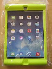 Vert enfants / enfants / jeunes enfants en caoutchouc Bounce peau impact coque pour Apple iPad Air