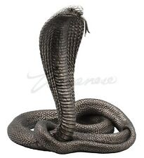 Large King Cobra Statue Deadly Predator Sculpture Snake Figurine