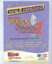 "Fusible Warm Fleece 1 - 45"" x 1 Yard (114cm x 91cm) - Warm Company Soft & New"