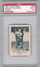 1952 Laval Dairy Subset Hockey Card Sherbrooke Saints D. Thompson Graded PSA 5.5