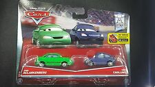 DISNEY PIXAR CARS DAN SCLARKENBERG KIM CARLLINS 2016 2 PACK SAVE 5% WORLDWIDE