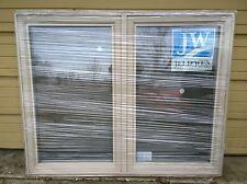 """BRAND NEW: Nice Big Jeld-Wen Vinyl DOUBLE-CASEMENT WINDOW 60"""" W x 48"""" H"""
