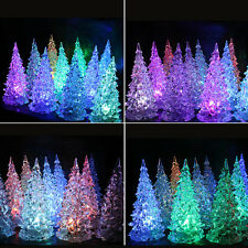 Colors Changing Creative Christmas Tree LED Night Light Decoration Candle Lamp